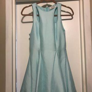 Fit and flare tiffany blue dress